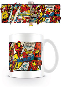 MARVEL COMICS MUG IRON MAN PANELS