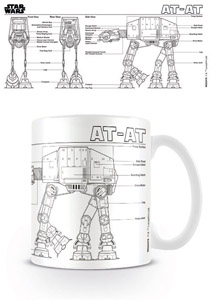 STAR WARS MUG AT-AT SKETCH