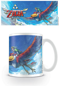 LEGEND OF ZELDA SKYWARD SWORD MUG LINK ON LOFTWING