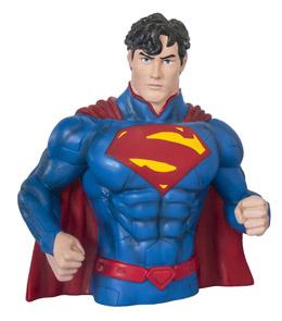 DC UNIVERSE TIRELIRE BUST BANK SUPERMAN NEW 52