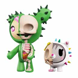 TOKIDOKI PACK 2 FIGURINES XXRAY SANDY & CARINA