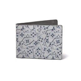 SONY PLAYSTATION PORTE-MONNAIE BIFOLD CONTROLLER PATTERN