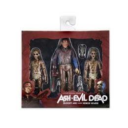 Photo du produit ASH VS EVIL DEAD SERIE 1 3 PACK BLOODY ASH VS DEMON SPAWN 18CM FIGURE Photo 1