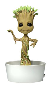 LES GARDIENS DE LA GALAXIE BODY KNOCKER BOBBLE FIGURE DANCING POTTED GROOT 15 CM