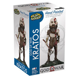 FIGURINE GOD OF WAR 2018 HEAD KNOCKER KRATOS 22 CM