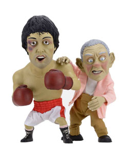 ROCKY PACK 2 STATUETTES ROCKY & MICKEY PUPPET 25-30 CM EDITION LIMITEE 1500 PIECES
