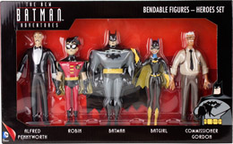 THE NEW BATMAN ADVENTURES PACK 5 FIGURINES FLEXIBLES HEROES 14 CM