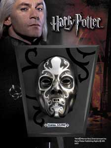 HARRY POTTER REPLIQUE MASQUE MANGEMORT LUCIUS MALFOY