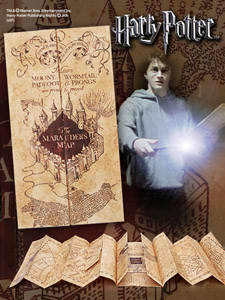 HARRY POTTER REPLIQUE 1/1 CARTE DU MARAUDEUR