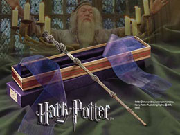 HARRY POTTER REPLIQUE BAGUETTE DE DUMBLEDORE