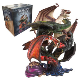HARRY POTTER SCULPTURE DRAGONS DE LA PREMIERE TACHE 27 CM