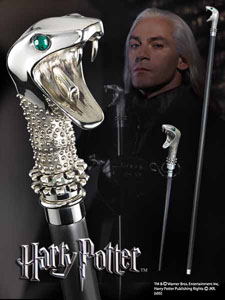 HARRY POTTER REPLIQUE CANNE / BAGUETTE DE LUCIUS MALEFOY