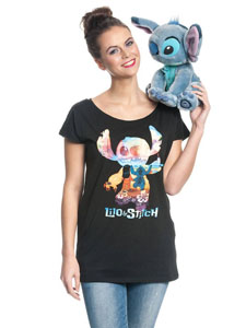 LILO & STITCH T-SHIRT FEMME ON THE BEACH