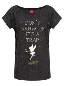 DISNEY T-SHIRT FEMME DON'T GROW UP