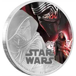 STAR WARS EPISODE VII PIECE D'ARGENT 1 ONCE KYLO REN