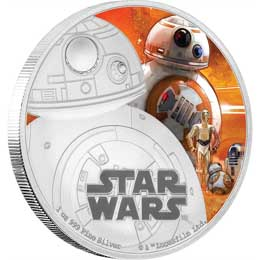 STAR WARS EPISODE VII PIECE D'ARGENT 1 ONCE BB-8