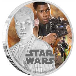 STAR WARS EPISODE VII PIECE D'ARGENT 1 ONCE FINN