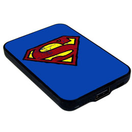 CHARGEUR DE BATTERIE SUPERMAN CREDIT CARD SIZED POWER BANK 5000 MAH LOGO