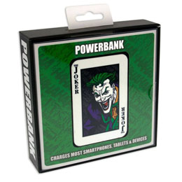 Photo du produit CHARGEUR DE BATTERIE BATMAN CREDIT CARD SIZED POWER BANK 5000 MAH THE JOKER  Photo 1