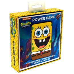 Photo du produit CHARGEUR DE BATTERIE BOB L´EPONGE CREDIT CARD SIZED POWER BANK 5000 MAH  Photo 1