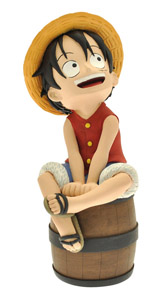 ONE PIECE TIRELIRE PVC LUFFY 17 CM