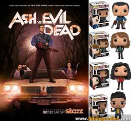 PACK 4 FUNKO POP ASH VS EVIL DEAD