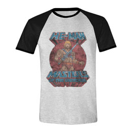 MASTERS OF THE UNIVERSE T-SHIRT RAGLAN HE-MAN POSE