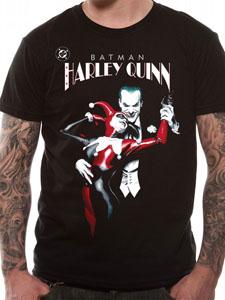BATMAN T-SHIRT JOKER & HARLEY QUINN