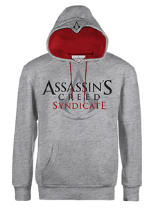 SWEATER A CAPUCHE ASSASSIN'S CREED SYNDICATE CLASSIC LOGO GREY
