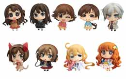 9 FIGURINES THE IDOLMASTER CINDERELLA GIRLS VOL. 01 ASSORTIMENT FIGURINES 5 CM CHIBI MINICCHU