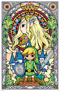 POSTER LEGEND OF ZELDA PACK STAINED GLASS