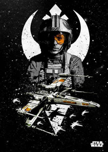 STAR WARS POSTER EN METAL STAR WARS PILOTS X-WING 10 X 14 CM