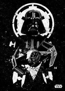 STAR WARS POSTER EN METAL STAR WARS PILOTS TIE ADVANCED 10 X 14 CM