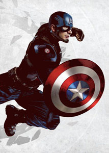 MARVEL COMICS POSTER EN METAL CIVIL WAR UNITED WE STAND CAPTAIN AMERICA 10 X 14 CM