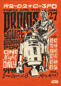 Photo du produit STAR WARS POSTER EN METAL STAR WARS LEGENDS DROIDS 10 X 14 CM