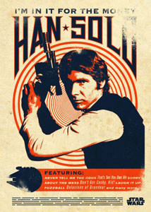 STAR WARS POSTER EN METAL STAR WARS LEGENDS HAN SOLO 10 X 14 CM