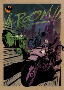 POSTER EN METAL GOTHAM CITY MOTOR CLUB GOTHAM CITY MC