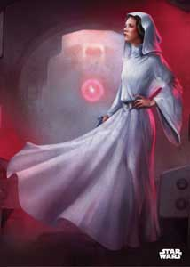 POSTER STAR WARS EN METAL PRINCESS LEIA 32 X 45 CM