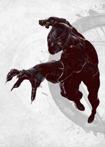 MARVEL COMICS POSTER METAL BLACK PANTHER