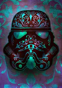 STAR WARS POSTER EN METAL MASKED TROOPERS FLUID 32 X 45 CM