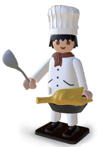 PLAYMOBIL STATUETTE NOSTALGIA COLLECTION CUISINER 25 CM