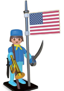 PLAYMOBIL STATUETTE NOSTALGIA COLLECTION CAVALIER AMERICAIN 25 CM