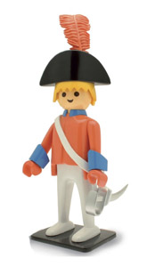 PLAYMOBIL STATUETTE NOSTALGIA COLLECTION OFFICIER DE LA GARDE 25 CM