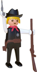 PLAYMOBIL FIGURINE NOSTALGIA COLLECTION SHERIFF 25 CM