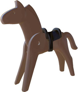 PLAYMOBIL FIGURINE NOSTALGIA COLLECTION CHEVAL 25 CM