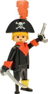 PLAYMOBIL FIGURINE NOSTALGIA COLLECTION PIRATE 21 CM