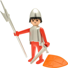 PLAYMOBIL FIGURINE NOSTALGIA COLLECTION CHEVALIER 25 CM