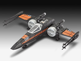 STAR WARS MAQUETTE BUILD & PLAY SONORE POE'S X-WING FIGHTER