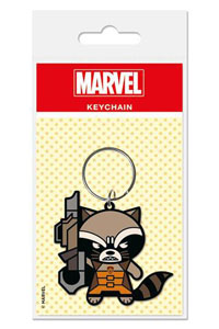 MARVEL COMICS PORTE CLE CAOUTCHOUC KAWAII ROCKET RACCOON 6 CM