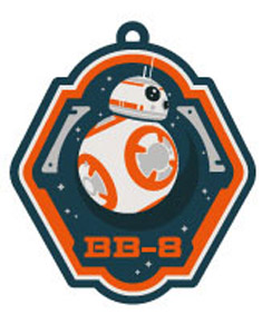 STAR WARS EPISODE VII PORTE-CLES CAOUTCHOUC BB-8